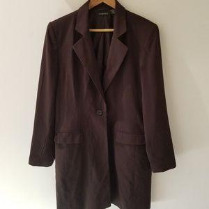 George Chocolate Brown Dress Length Blazer  9/10
